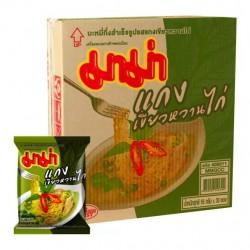 Thùng 30 Gói Mì Cà Ri Xanh Mama CTC98 55g Thái Lan