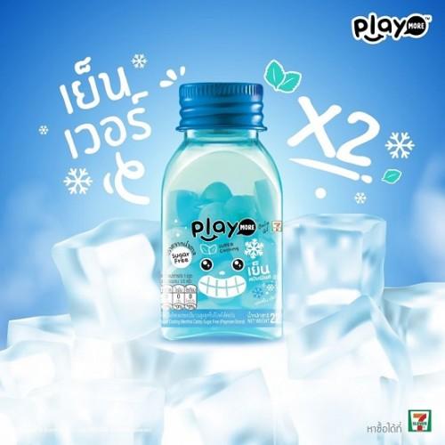 Kẹo Play More Bạc Hà Siêu The Mát 22g Thái Lan [Có Logo 7-Eleven]