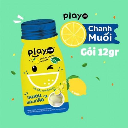 Kẹo Play More Chanh Muối Dạng Gói 12g