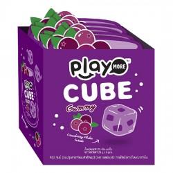 Lốc 6 Bịch Kẹo Play More Cube Vị Nam Việt Quất Dạng Thạch 25g Thái Lan