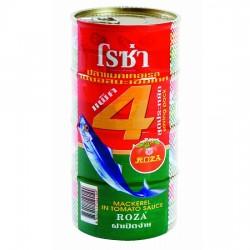 Lốc 4 Hộp Cá Thu Sốt Cà Roza Mackerel In Tomato Sauce 185g Thái Lan
