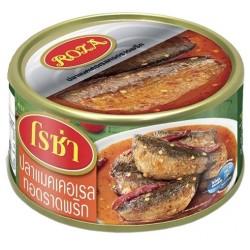 Hộp Cá Thu Chiên Sốt Chua Cay Roza 140g Thái Lan