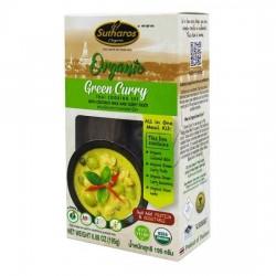 [Organic] Gia Vị Nấu Cà Ri Xanh Sutharos Organic 195g Thái Lan