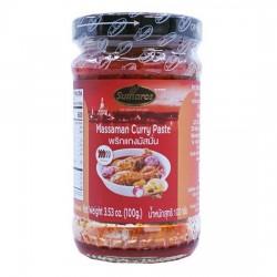 Sốt Cà Ri Massaman Sutharos Massaman Curry Paste 100g Thái Lan