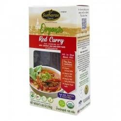 [Organic] Gia Vị Nấu Cà Ri Đỏ Sutharos Organic 195g Thái Lan