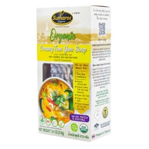 [Organic] Gia Vị Nấu Món Tom Yum Nước Đục Sutharos Organic 210g Thái Lan Chuẩn Vị