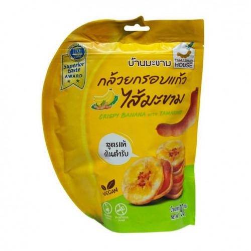 Bánh Chuối Kẹp Me Tamarind House Thái Lan 90g Chua Chua Ngọt Ngọt Giòn Rụm Ăn Là Ghiền