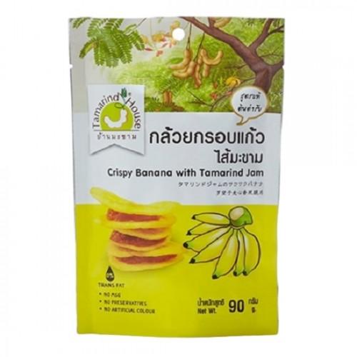 Bánh Chuối Kẹp Me Tamarind House Thái Lan 90g