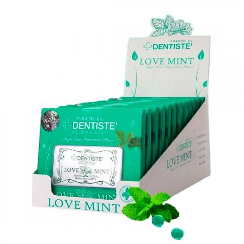 Kẹo Ngậm Phòng The/Tình Yêu Dentiste' Love Mint vị Bạc Hà Thái Lan