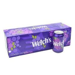 Thùng 12 Lon Nước Soda Nho Welch's 355ml CTC119 Nhập Khẩu Mỹ