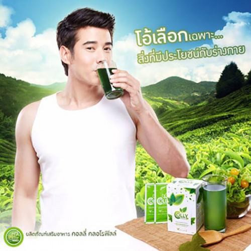 Nước uống trà xanh giảm cân, thải độc & đẹp da Colly Tea Chlorophyll Plus Fiber