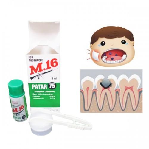 Dầu trị đau răng Patar 75 M.16 3ml Thái Lan