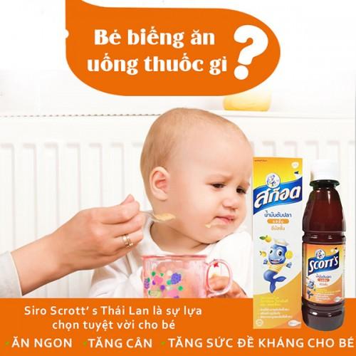 Siro Tăng Cân Trẻ Em SCOTT'S 200ml Thái Lan