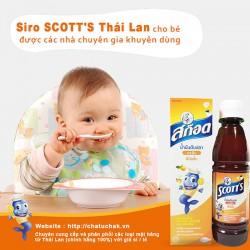 Siro SCOTT'S thái lan giúp bé ăn ngon và mau tăng cân