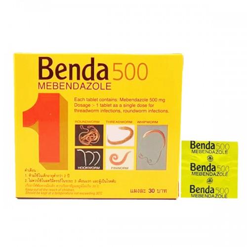 Thuốc tẩy giun Benda 500 Mebendazole Thailand