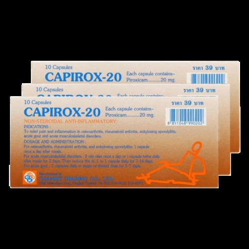 Thuốc trị khớp và gút Capirox-20 Thái Lan