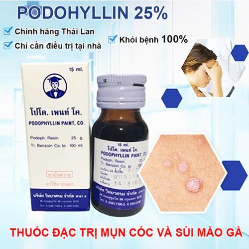 Thuốc Trị Mụn Cóc Và Sùi Mào Gà Gia Truyền Podophyllin Của Thái Lan